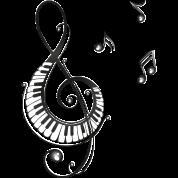 Taza Clave con teclas de piano y notas musicales ... Cantando Music